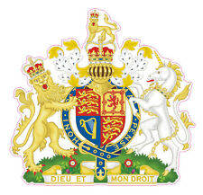 BRITISH ROYAL COAT OF ARMS - CAR STICKER UNITED KINGDOM - Bumper, Decal