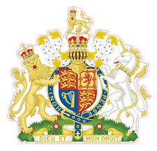 BRITISH ROYAL COAT OF ARMS - CAR STICKER UNITED KINGDOM - Bumper, Decal