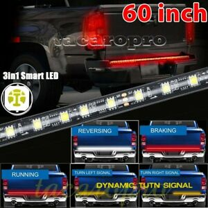 """60"""" TRIPLE-CORE Smart LED Tailgate Light Bar with Sequential Amber Turn Signal"""