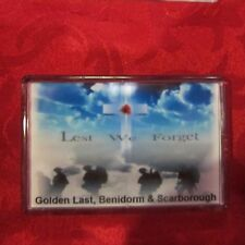 Fridge magnet loyalist Lest We Forget  Golden Last  Orange