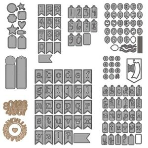Letters Numbers Symbols Metal Cutting Dies Scrapbooking Embossing Crafts Album