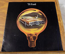 1971 Vehicle Brochure /// FORD Automobiles / GALAXIE 500 / LTD