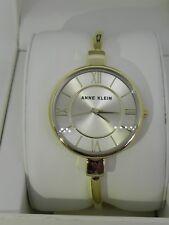 New Anne Klein AK/1750CHGB Gold Tone Dial Bangle Women's Watch