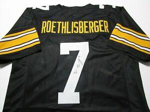 BEN ROETHLISBERGER / AUTOGRAPHED PITTSBURGH STEELERS BLACK CUSTOM JERSEY / COA