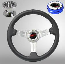 For Accord 90-93 Prelude 92-96 Chrome Steering Wheel Combo Kit w/BL Quick Relea