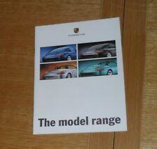 Porsche Range Brochure 1998-1999 Boxster 911 996 Carrera 4