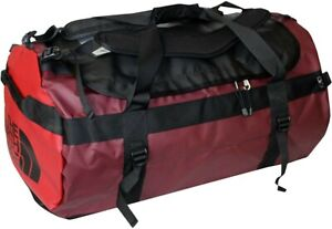 Unisex The North Face Base Camp Golden State Duffel Bag M 72L Red/Black NWT