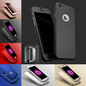 360° Full Body Protective PC Case for Apple iPhone X, 8, 6 & 6S PLUS 7 & 8 PLUS