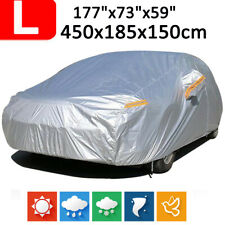 L Waterproof Full Car Cover Breathable Scratch Proof Anti-UV Protection Silver