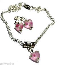Heart Glass Costume Necklaces & Pendants