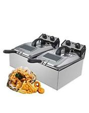 Commercial Deep Fryer With Visible Window Deep Fryer 2500w 12l 6l 22