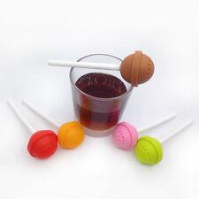 Silikon Sweet Candy Lollipop Tee Sieb Kräuterwürze Infuser Filter Diffusor