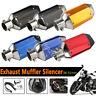 38-51mm Motorcycle Short Exhaust Muffler Pipe & Removable DB Killer Silencer