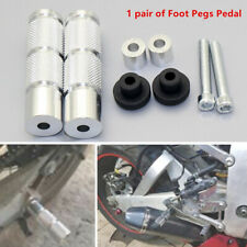 1Pair Sliver Motorcycle Rearset Footrests Footpegs Foot Pegs Pedals CNC Aluminum