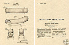 OSCAR MAYER WIENERMOBILE 1954 Patent Art Print READY TO FRAME!! Weiner mobile