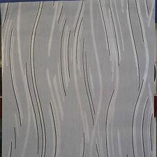 Glitter Wave Stripe Pattern Textured Blown Vinyl Wallpaper Grey Silver Black