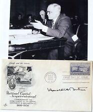 Associate Justice Harold H. Burton Signed Cover Served 1945-1958 Supreme Court #