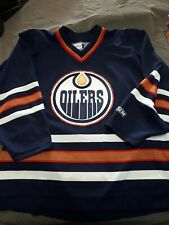Mens NHL Edmonton Oilers CCM Official Hockey Jersey Used Large