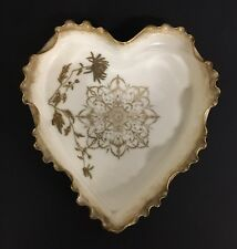 Beautiful Willets Belleek Heart Shaped Dish
