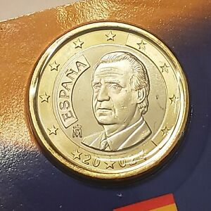 2002 Spain 1 Euro From The 50 State Quarters & Euro Coin Collection, US Mint