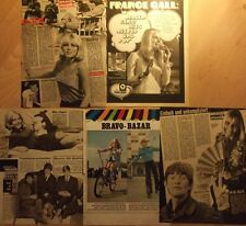5 german clipping FRANCE GALL SINGER N. SHIRTLESS GIRL BOY BAND BOYS GROUP 60s
