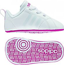 adidas Neo VS Advantage Crib Baby Girls Trainer White/pink - UK 1