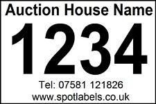 10 Rolls of 300 Personalised Auctioneers Lot Number Easy Peel Labels, No Residue
