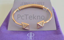 Jennifer Lopez Rose Gold Plated Crystal Pyramid Spring Open Cuff Bracelet NIP