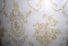 New Linen Source Buttercup Yellow Cameo Rose Toile Sheet Set ~ King~ 4 Pieces