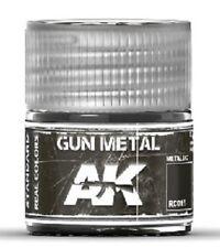 AKI INTERACTIVE Real Colors Gun Metal Acrylic Lacquer Paint 10ml Bottle RC15