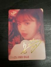 (G)I-DLE I Made Senorita Soojin sign photocard YES! Mag. Official (Unofficial)