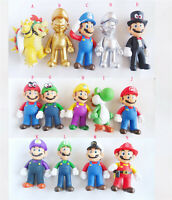 "Super Mario Brothers Bros YOSHI Bowser Koopa Action Figure Toys 4""-4.5"""