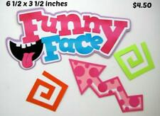 Funny Face Title girl play scrapbook premade paper piecing by Rhonda