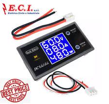 Wattmètre Voltmètre Ampèremètre DC 0-100V 0-10A 250W Numérique Auto Moto
