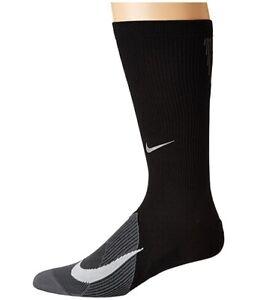 Nike Unisex 179458 Spark Lightweight Black/Dark Grey/White Crew Socks Size 4