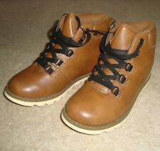 Boy's LILY & DAN Boots Size 12 UK Kids NWOT Shoes Ankle Brown Tan