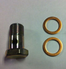 """Banjo  bolt & washers, Bolt 14 X 1.5 Thread. Bolt head 19mm or about 3/4"""" Common"""