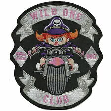 WILD ONE CLUB 99% MC large back patch Appliques Embroidered Iron on Patch 6''