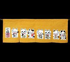 7 Maneki neko ( Lucky cat ) Noren Japanese Door Curtain Japan