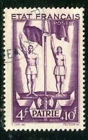 STAMP / TIMBRE FRANCE OBLITERE N° 579 / SECOURS NATIONAL / PETAIN