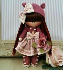 Mothers day Rag doll handmade in UK Tilda doll Ooak doll LEIGHANNE 8 inch tall