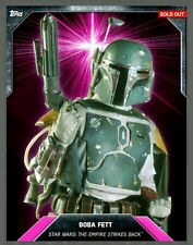 NEW topps card trader BOBA FETT star wars PINK LASER BURST digital 150cc AWARD