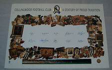 COLLINGWOOD MAGPIES SIGNED A CENTURY OF PROUD TRADITION LIMITED EDITION PRINT