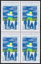 CHILE 1992 STAMP # 1570 MNH BLOCK OF FOUR DISABLED HANDICAPPED