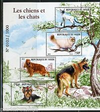 NIGER 2015 DOGS & CATS  SHEET MINT NH