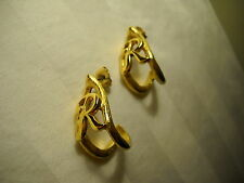 """Goldtone """"R"""" Initial Earrings with Posts, 1"""" Long"""