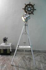 Vintage Floor Search Light Lamp With white Wooden Tripod Spot Light Lamp