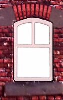 LC06b - Laser cut Curved Top Tall Windows O scale pk of 6 Smart Models