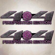 4x4 Truck Firefighter Wife Decal Pink Fire Off Road Girl Sticker Set