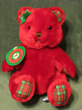 "Carousel by Guy Red Plaid Tiffany Teddy Bear 7"" Vintage 1987 Plush Toy w/ Tags"